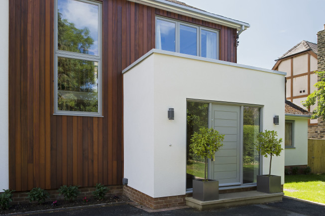 Photography for Niche Design Architecture. Exterior photography of Porch and garden room extension